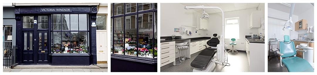 premises photos of dentist surgery and florist shop