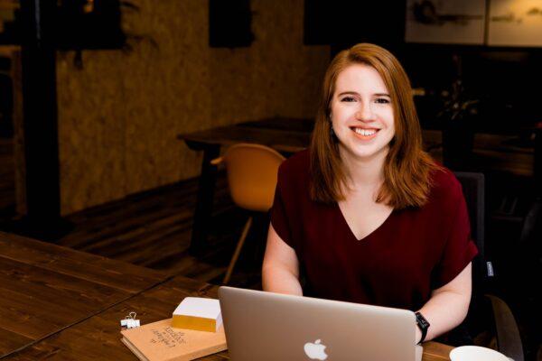 female entrepreneur at laptop