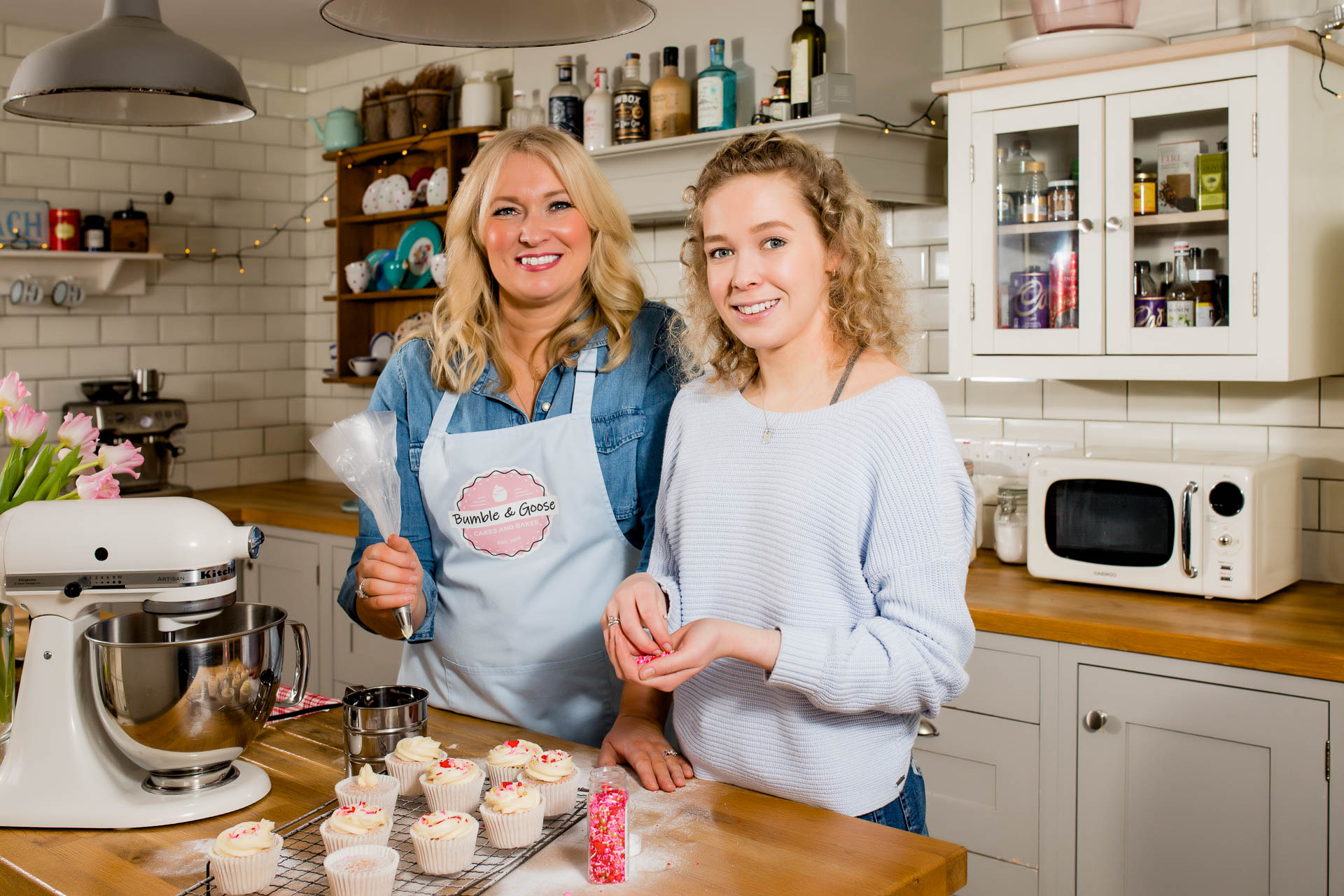 small business bakers branding photo in the kitchen