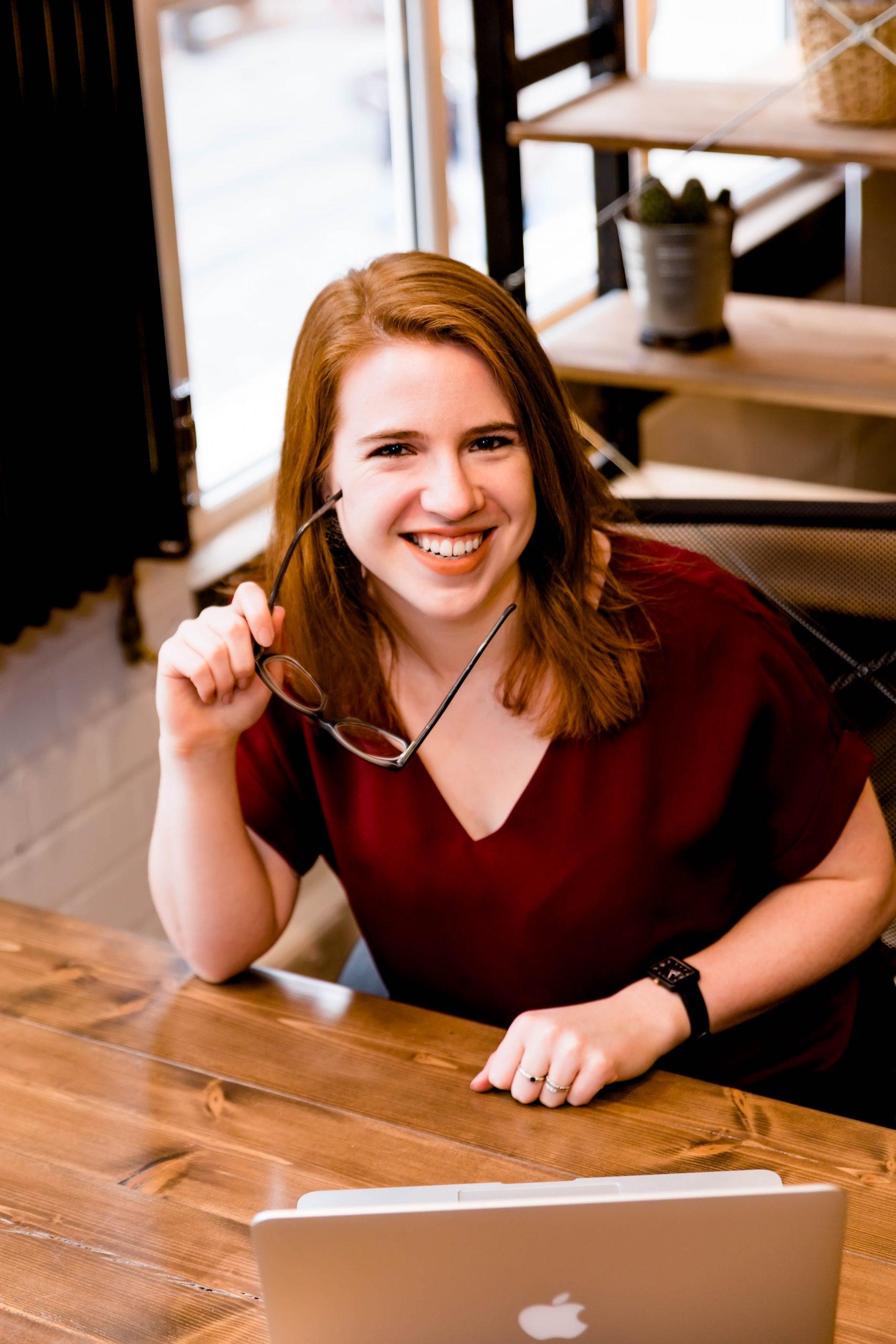 entrepreneur portrait with glasses and laptop