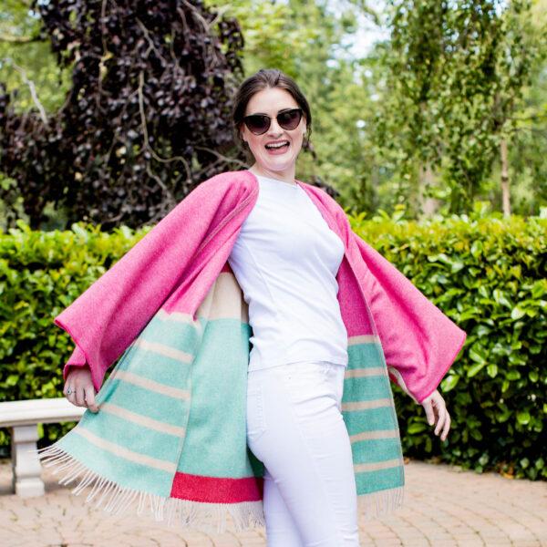 fun female entrepreneur portrait twirling