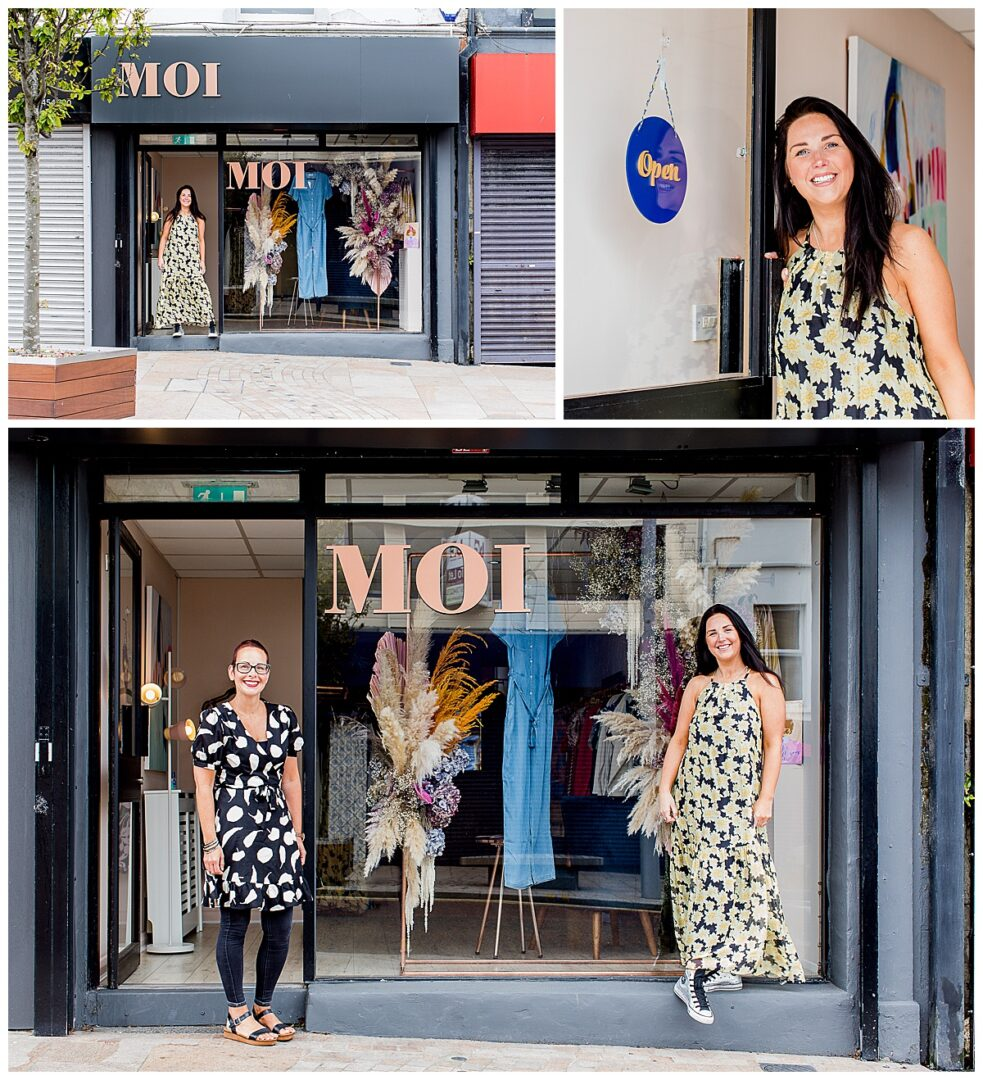 photo montage of business portraits for an independent boutique retailer