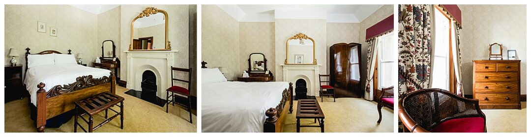 commercial photography of period B&B bedroom interior