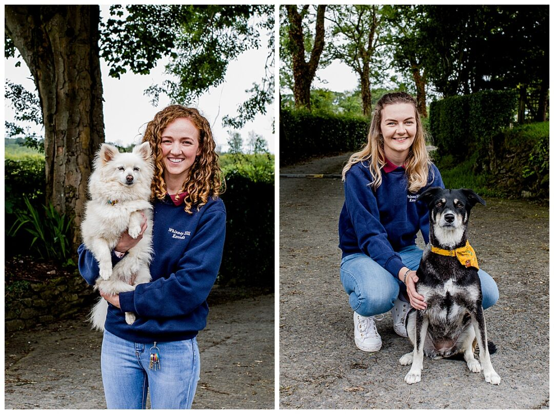 business portraits for dog kennels staff with dogs