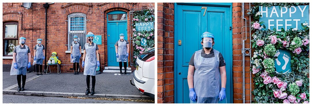 PPE healthcare worker doorstep portraits