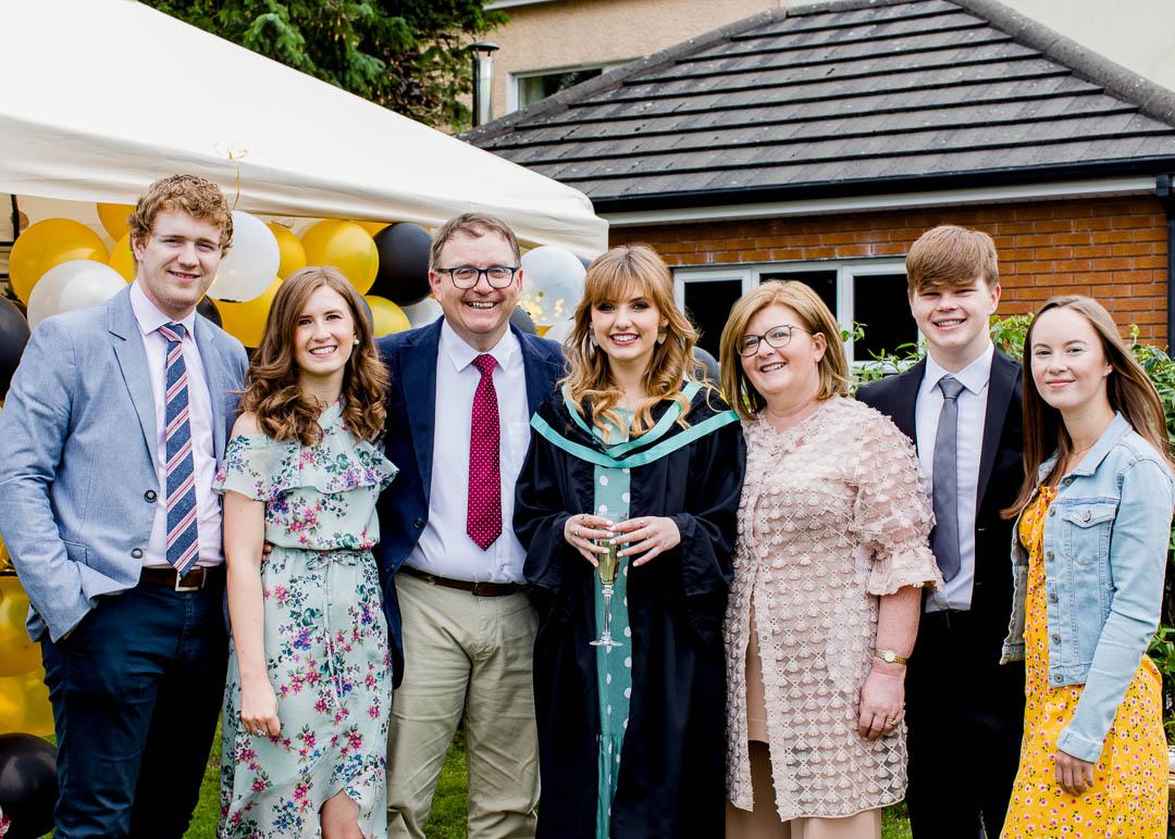 family celebration portrait
