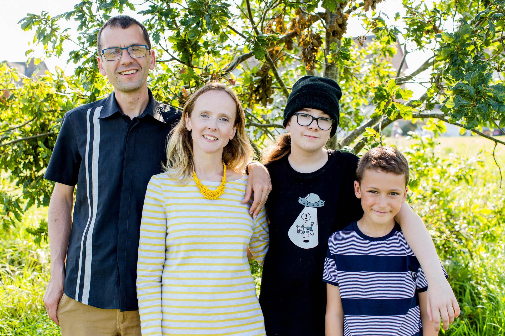 family portrait outdoors